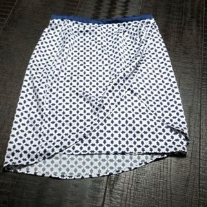 H&M Blue and Pink Overlap Skirt